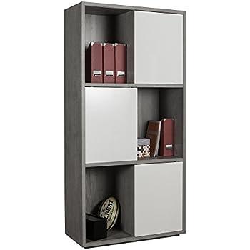 Homfa Libreria Armadio con 6 cubi Mensola in Legno ...