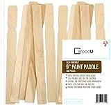 """WoodU Bâtons de peinture en bois 9"""" en vrac de 100pc bois pour mélanger Sticks Stir peinture et autres liquides, utilisé pour Art Project & Home Improvement, Jardin"""