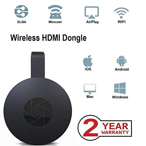 Wireless WiFi Display Dongle, tragbarer Display-Receiver, 1080P HDMI Miracast Dongle Digital AV zu HDMI-Anschluss für Android / Samsung / Projektor / TV / Mac / Windows Wireless Display Adapter