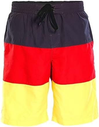 PEARL Badeshorts im schwarz-rot-goldenen Deutschland-Design, Gr. S