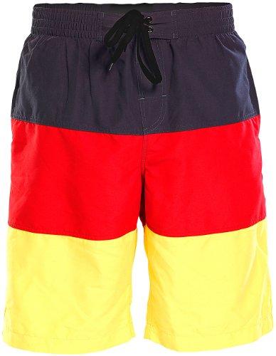 Speeron Bade-Shorts: Badeshorts im schwarz-rot-goldenen Deutschland-Design, Gr. XXL (Surfer-Badeshorts) (Sportliche Auszeichnungen)