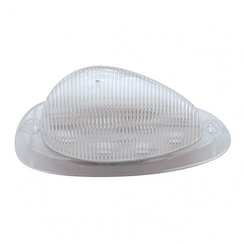 united-pacific-freightliner-15-amber-led-teardrop-sleeper-clearance-marker-light-clear-lens-by-unite