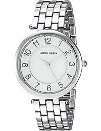 Anne Klein Women's AK/2701WTSV Easy To Read Dial Silver-Tone Bracelet Watch