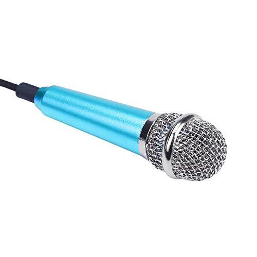TianranRT Mini Karaoke Kondensator Mikrofon Für Telefon Computer Mini PhoneMic (Blau) -