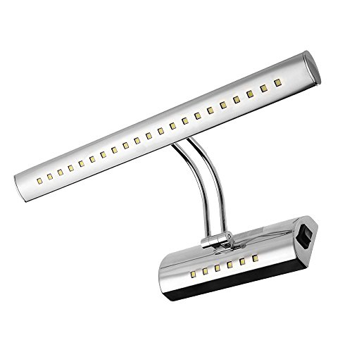 CroLED® 6 Watt, 27 LED's - Spiegelleuchte, Badlampe, Edelstahl, Weiß