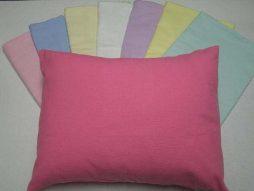 Crib / Toddler Flannel Baby Pillow Case - Light Solids - Lilac - Made In USA