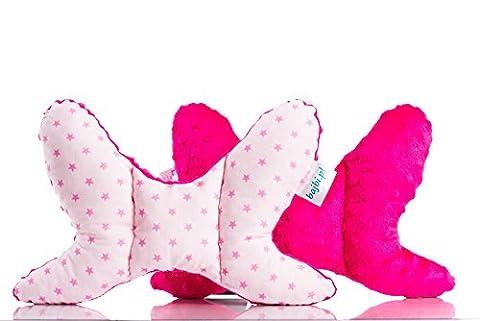 BAJBI ®   Antishake Kopfstütze / KopfKissen für Kleinkind baby   Baumwolle / Minky   Anti Allergische   Made in EU   Viele Farben und Muster vorhanden