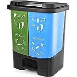 KETWAREPIN Garbage Waste Plastic Dustbin Kitchen Office Home & Commercial Dustbin Recycle Bin 2 in 1 (35 L) (2)
