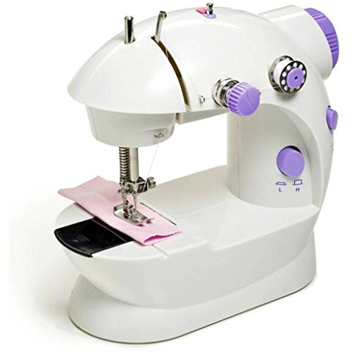 NS Tech Mini Desktop Multifunctional Electric Household Double Stitches Sewing Machine,(Pack of 1)