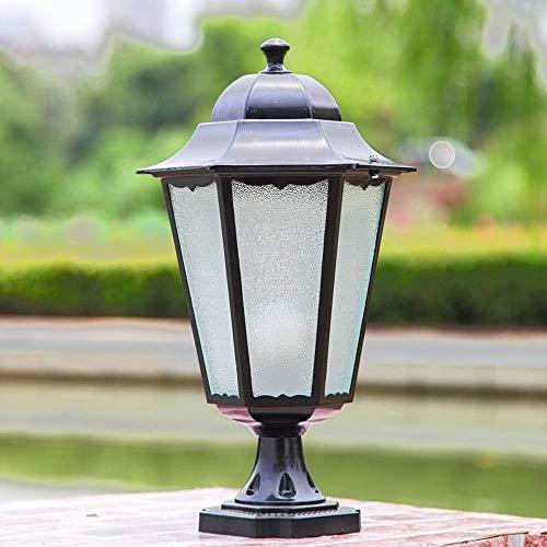 DLINMEI Moderne schwarze Outdoor Gartenlaterne Stil Laternenlampe Druckguss Aluminium Outdoor Laterne Laterne Licht - Aluminium Outdoor Laterne