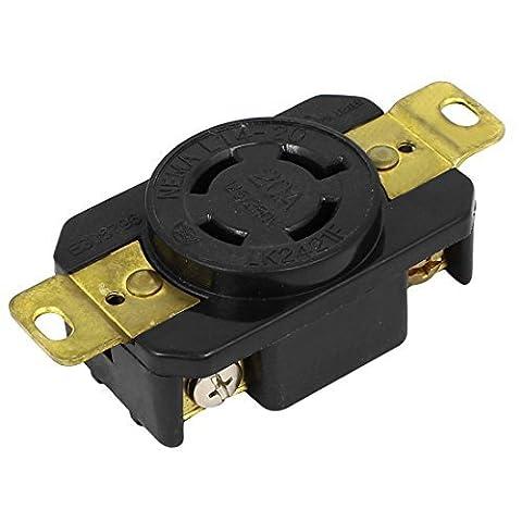 DealMux AC 125V / 250V 20A US Sockel Twist Lock elektrische Steckdose LK-2421F NEMA L14-20R (Nema Twist)