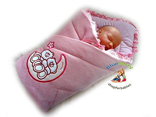 beautiful-velour-newborn-baby-swaddle-wrap-blanket-snuggle-sleeping-bag-pink