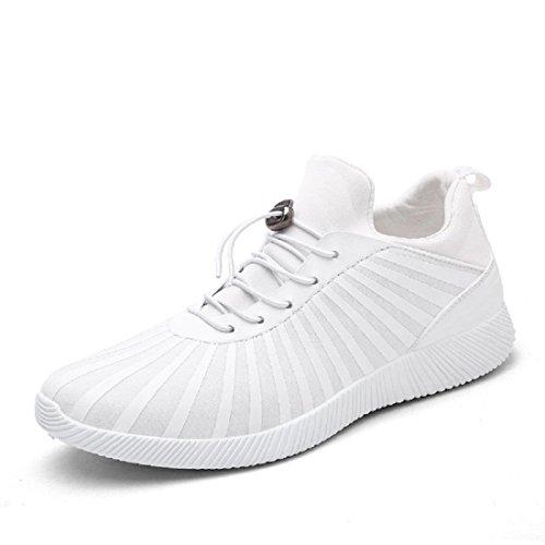 Uomo Il nuovo Scarpe casual traspirante Scarpe sportive formatori Scarpe da ginnastica Leggero All'aperto Scarpe da corsa euro DIMENSIONE 39-44 White