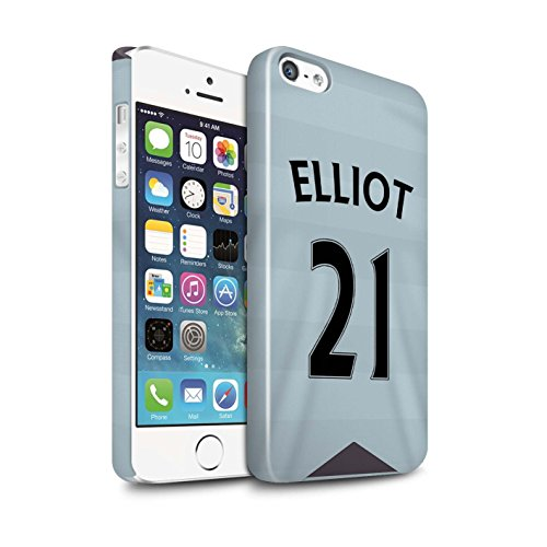 Offiziell Newcastle United FC Hülle / Glanz Snap-On Case für Apple iPhone SE / Janmaat Muster / NUFC Trikot Away 15/16 Kollektion Elliot