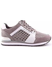 Zapatos Mujer Sneakers MICHAEL KORS BillieTrainer Lasered Leather PGrey OPWht