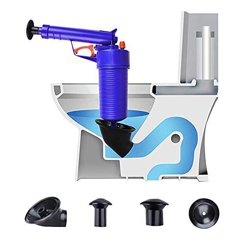 Hochdruck-Luftabflusstoilette Plunger Sink Pipe Dredge Remover, Air Power Drain Blaster, Hochdruck-Drain Opener für Toilettenbademaum -