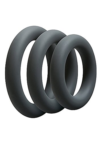 Doc Johnson Optimale 3 C-Ring Set thick - slate, 1 Stück
