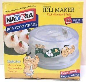 Nayasa Plastic Microwave Idli Maker (Multicolour, 3666)