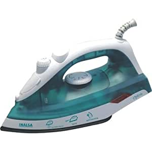 Inalsa Optra 1200-Watt Steam Iron with Non stick coated sole plate (White/Green)