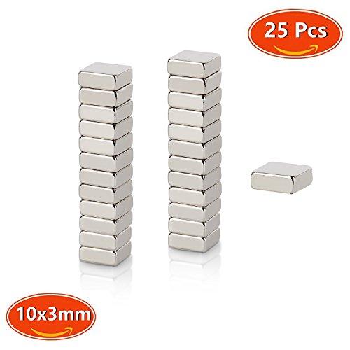 Neodym Magnet, Mini Magnete N45 Stärke 1.9 kg 10 x 10 x 3 mm(quadratisch) Handwerk Modelle DIY personalisierte Multi-Use für Kühlschrank Tür Whiteboard Magnetische Karte Magnetische - Magnete Quadratische