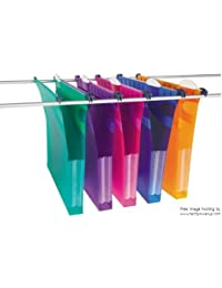 2XRexel 274416 Foolscap Multifile Extra Suspension Files, 30 mm - Assorted Colours, Pack of 11