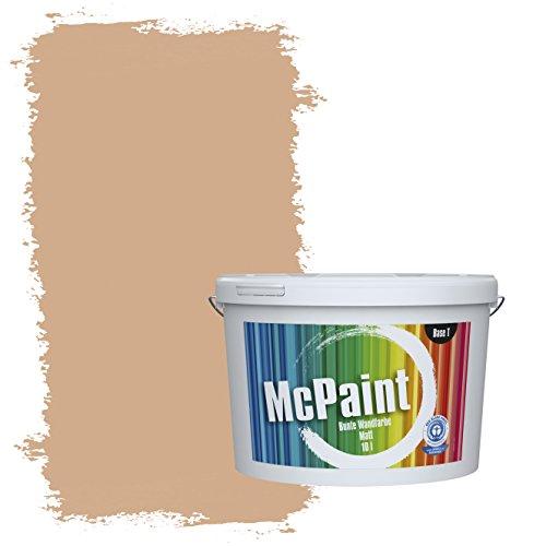 McPaint Bunte Wandfarbe Sand - 5 Liter - Weitere Orange Farbtöne Erhältlich - Weitere Größen Verfügbar