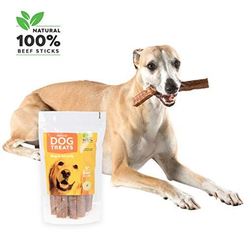 100% Natursnack Streifenfleisch Rindfleisch Getrocknetes für Hunde, Natural Beef Stick Chews, 10 Stück