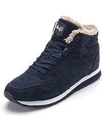 9fb9925b34af Qianliuk Schnee Stiefel männer Winter Schuhe für männer lace-up Stil Mode  lässig plüsch Rutschfeste halten warme…