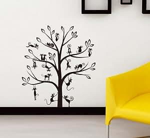 Sticker mural géant Arbre à chats -WS059 - 39 stickers