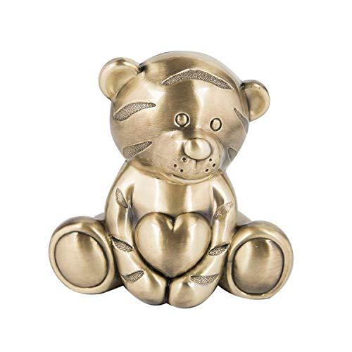 YXXHM- Abrace The Cute Tiger Piggy Bank, Personalidad Creativa Europea Piggy Bank, Metal Crafts Regalos para niños, 12X10X11.4CM
