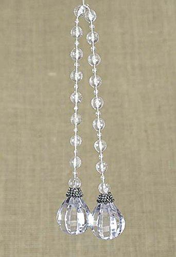 Catena pendente decorativo con gocce tipo cristallo