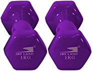 Vinyl Dumbbell Classical Head 1 Kgx2 - Purple