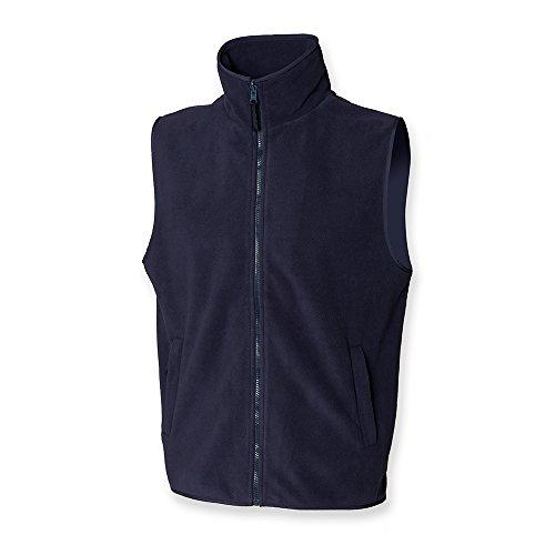Henbury Men's Sleeveless Micro Fleece Jacket Bleu Marine