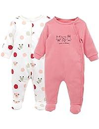 Pijama para Bebé 2 piezas Niños Niñas Pelele Manga Larga Mameluco Mono Body Algodón Trajes 0-12 Meses