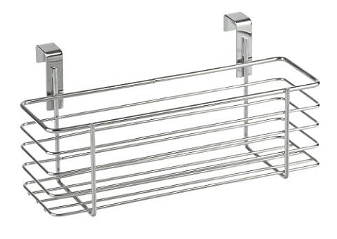 WENKO 2344100 Einhängekorb Slim, verchromtes Metall, 24 x 11.5 x 10 cm, (Porta In Acciaio Inox Battenti)