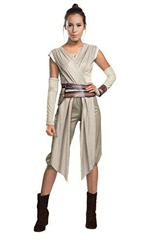 Rubies 3810668 Rey Deluxe Erwachsenen Kostüm, beige (Rey Aus Star Wars Kostüm)