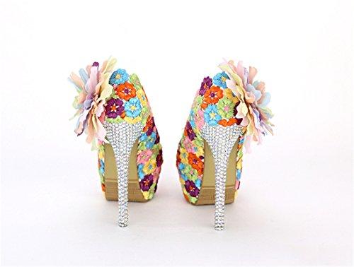 Miyoopark , Semelle compensée femme Multicolor-14cm Heel