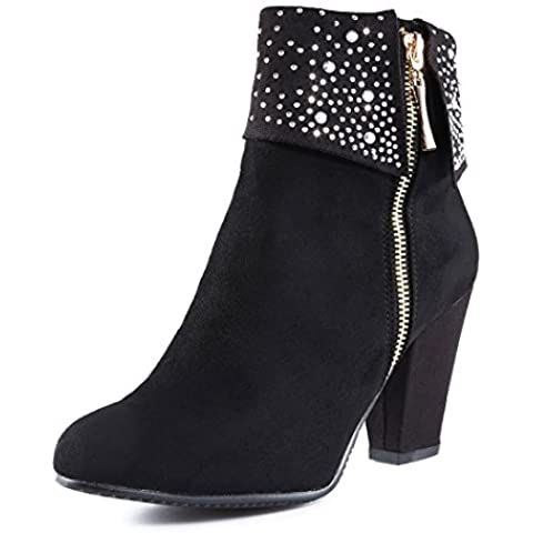 AFFINEST Carpe Scarpe Stivali Boots Stivaletto in pelle chiusura zip