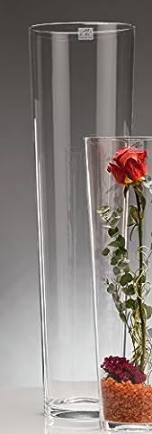 Glasvase CONICAL hot-cut Vase Glas Blumenvase Tischvase konisch groß, 70 cm