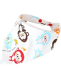 Recién nacido algodón babero Funky bebé Bandana Drool baberos infantil dibujos animados toalla de saliva niños pañuelo bufanda