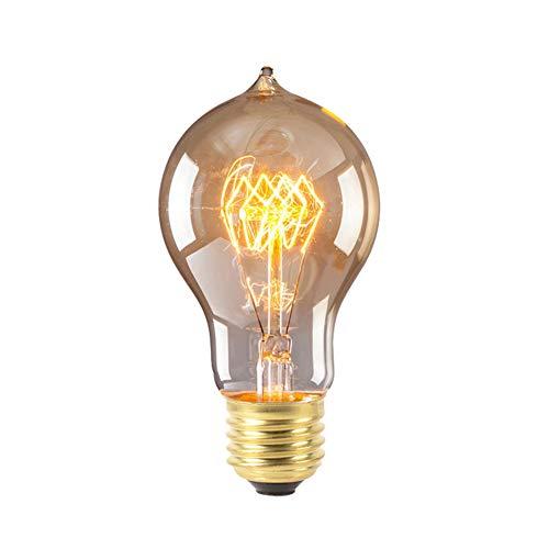 P12cheng Bombilla incandescente clásica, E27, Bombilla incandescente Retro Edison, filamento Vintage, lámpara Colgante de ampolla para Sala de Estar, Dormitorio