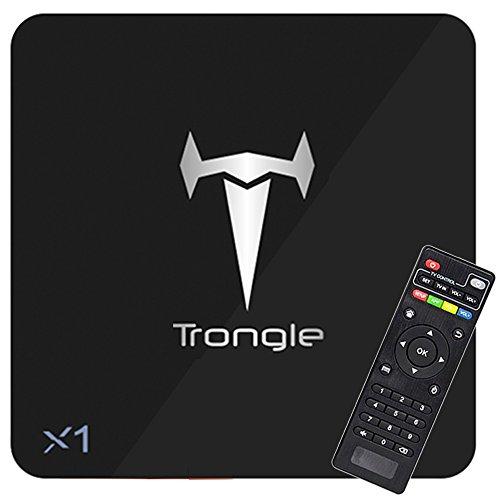 Android 6.0 TV Box, SEGURO X1 KODI 16.1 Streaming Media Player Amlogic S905X Quad Core 2GB+8GB eingebaute WIFI mit vorinstallierte Add-ons, Support OTA Online Upgrade