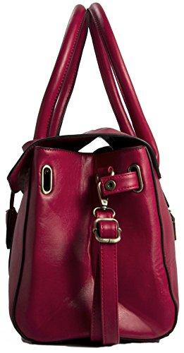 Big Handbag Shop da donna in ecopelle design Boutique Maniglia Superiore Borsa a tracolla Medium Tan (BH695)