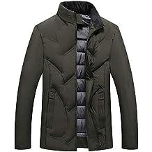 Moda Uomo Autunno Inverno Casuale Tasca Pulsante Termico Pelle Giacca  Superiore Cappotto Giacche Sportive ab4123bce66