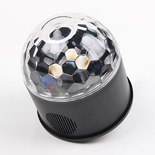 Crystal Sound Aktivierte Ball Party Effect LED-Bühnenbeleuchtung Mit Multi-Farben Disco-Ball-Lampen, 9W RGB 9 Farben Für KTV-Beleuchtung, X ' Mas Party, Hochzeits Show, Club Pub ()