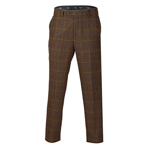 Xposed Herren Blazer Anzug, Karo * Trouser-Tan Brown
