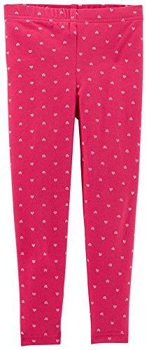 Carters Baby Girls Heart Leggings 12 Month Pink Girl Carters Legging