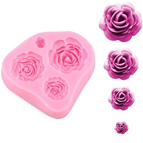 HENGSONG Rosen Blumen Silikonform Kuchenformen Fondant Form Kuchen Dekorieren Schokolade Backformen
