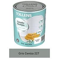 Tollens - Esmalte para azulejos al agua 750 ml (Gris Ceniza 227)