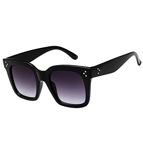 Ketamyy unisex nuovo retro occhiali da sole quadrati uomini e donne selvaggi occhiali con montatura grande 2# grigio/nero cornice taglia unica